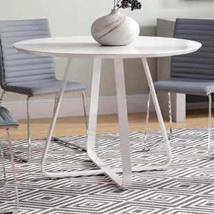 Tegan High Gloss Lacquer Dining Table by Ivy Bronx Wonderful