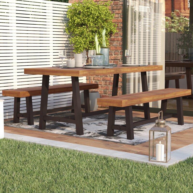 Bartlesville Rustic Metal 3 Piece Dining SetMetal Patio Furniture. Metal Outdoor Patio Furniture. Home Design Ideas