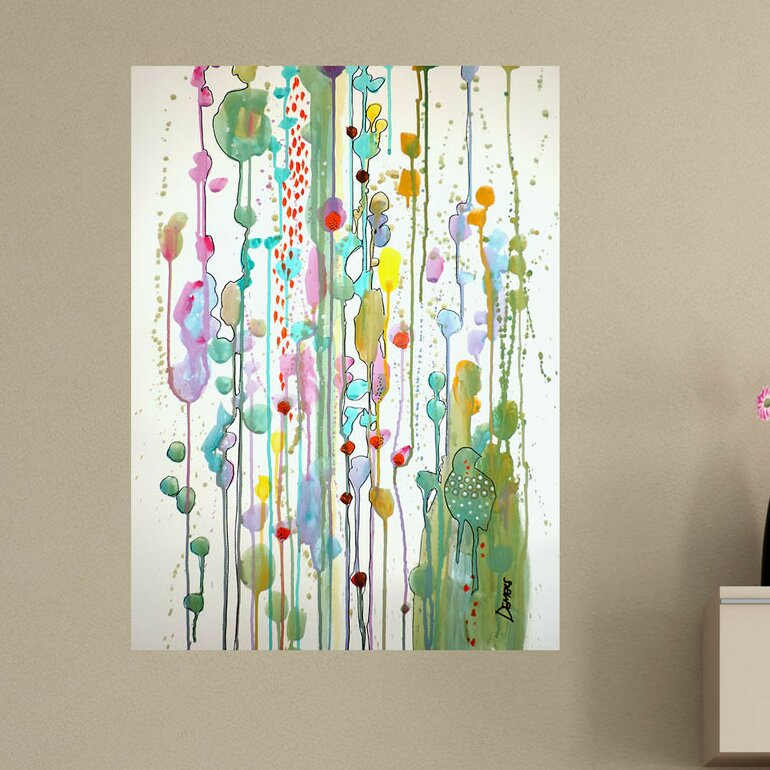 My Wonderful Walls Abstract Bird And Garden Recognize You By Sylvie Demers Wall Decal Wayfair Ca