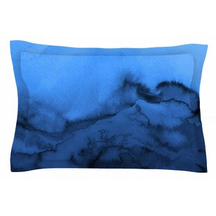 Ebi Emporium 'Winter Waves, Shades of Blue' Painting Sham