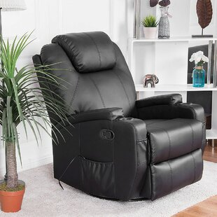 Leather Reclining Massage Chair by Red Barrel Studio