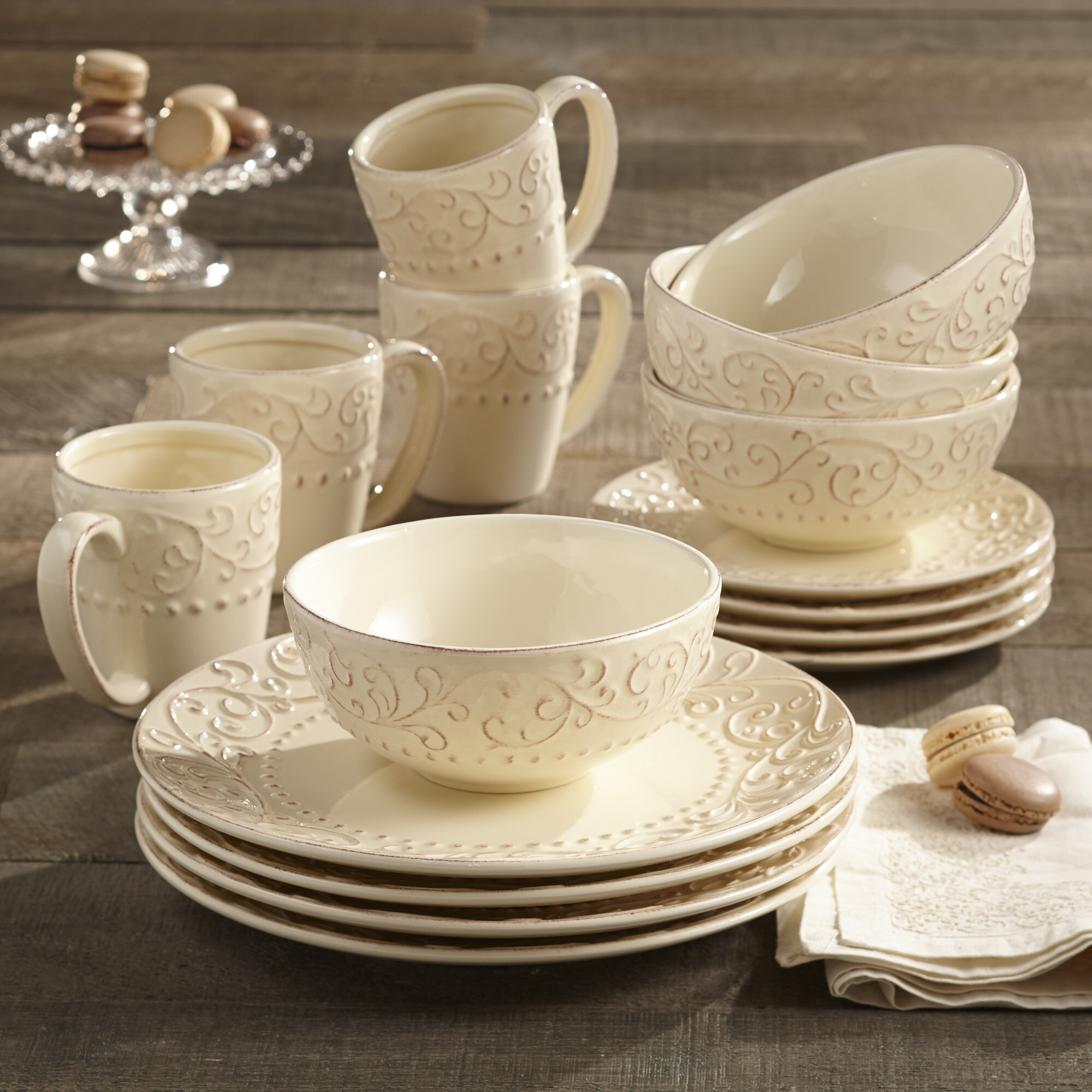 Farmhouse Dinnerware Sets Free Shipping Over 35 Wayfair