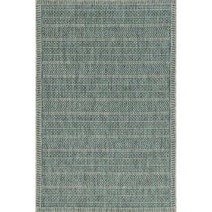 Malchow Teal Indoor/Outdoor Area Rug