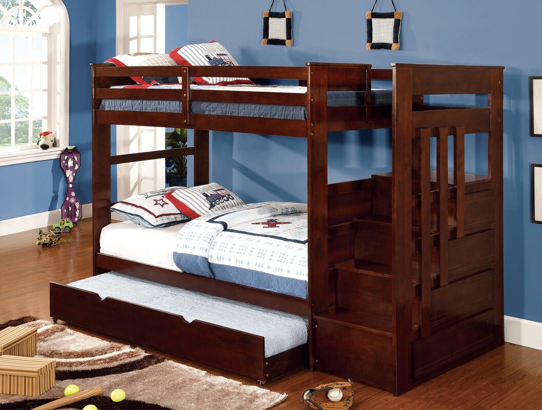 Monsiac Twin Bunk Bed with Storage