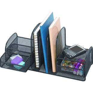 Reviews Vertical Mesh Desk Organizer by Rebrilliant