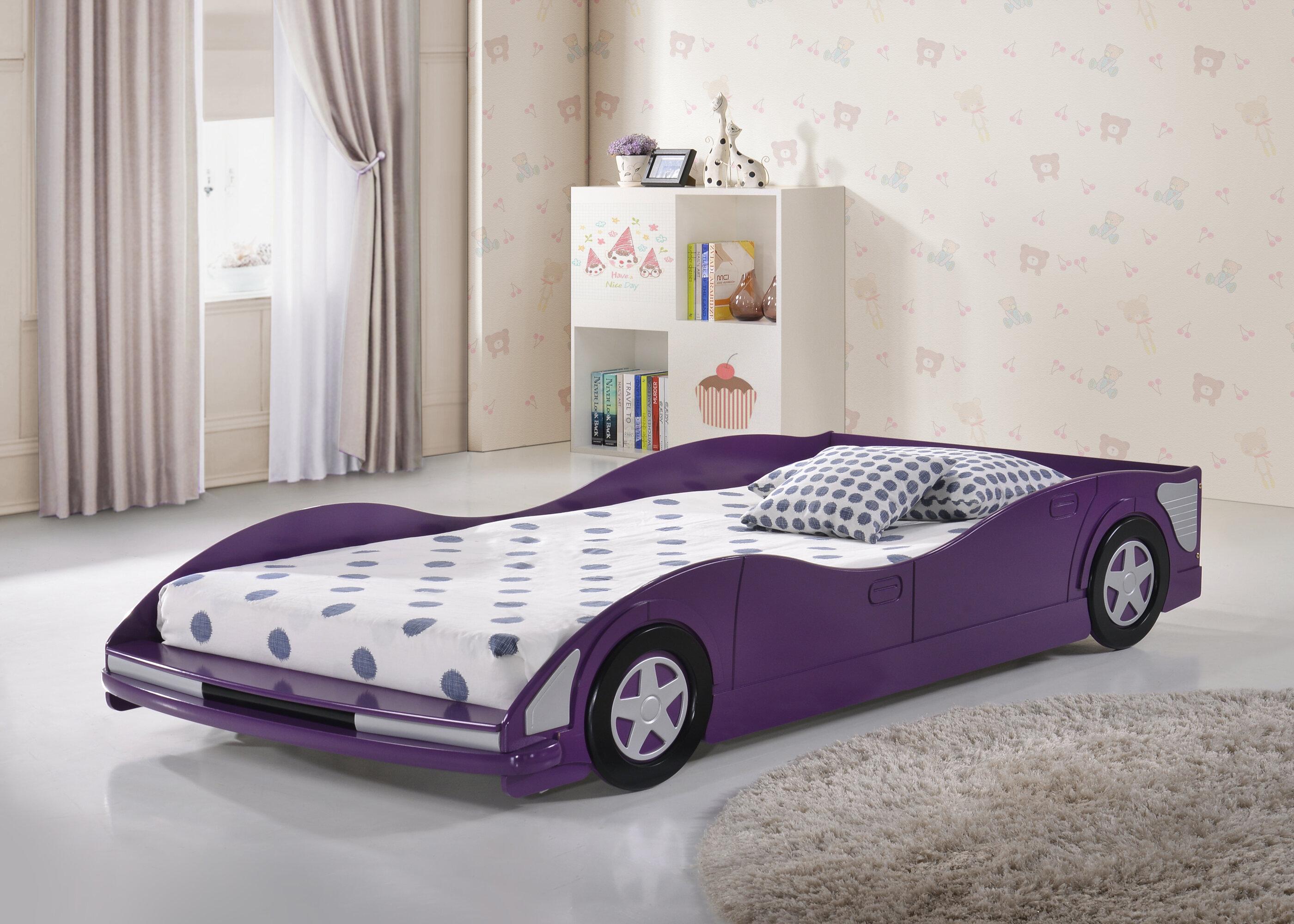 Zoomie Kids Iron Acton Twin Race Car Bed Wayfair