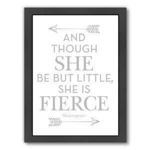 She Is Fierce Framed Art