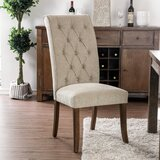 Gregson Tufted Upholstered Side Chair in Beige (Set of 2) by Alcott Hill®