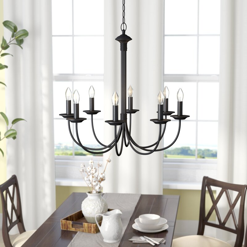 Shaylee 8 Light Candle Style Classic / Traditional Chandelier by Laurel Foundry Modern Farmhouse