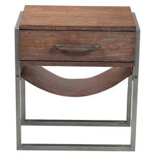 Find Larosa Industrial Style Acacia Wood End Table by Union Rustic