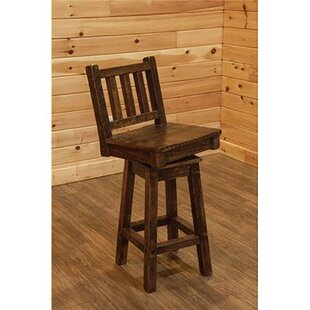 Angelica Swivel Bar Stool Millwood Pines