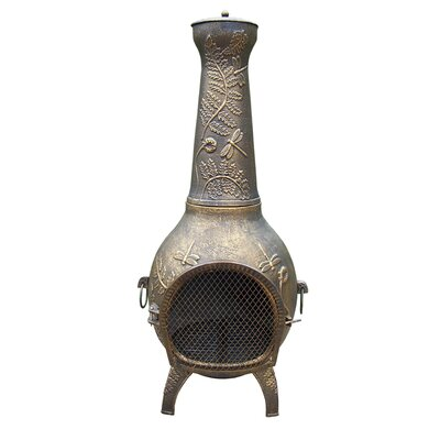 Oakland Living Dragonfly Cast iron Wood Burning Chiminea Finish: Antique Bronze
