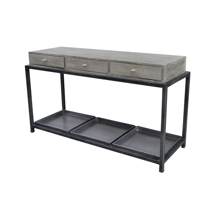 Morrissey Bickerton Box Metal Console Table With Storage
