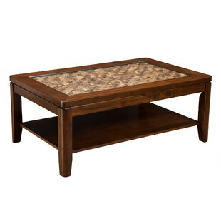 Straley Wooden Coffee Table with Storage by Bay Isle Home