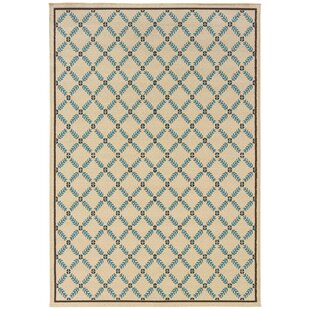 Barboza Ivory/Blue Indoor/Outdoor Area Rug