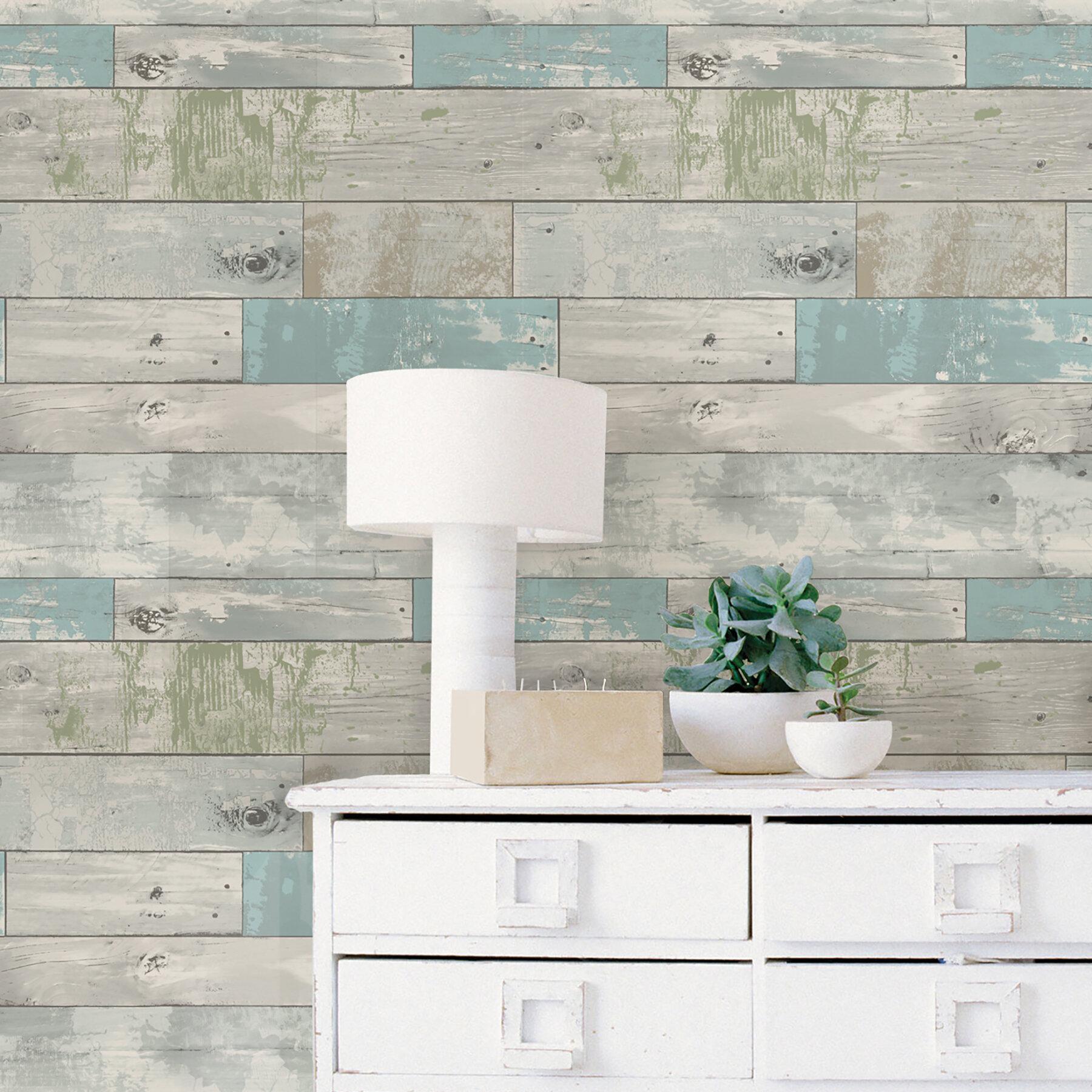 18 l x 205 w beachwood peel and stick wallpaper roll