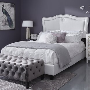 Fabian Queen Sweetheart Shaped Upholstered Panel Bed by House of Hampton