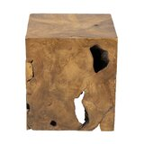 Daves Solid Wood Block End Table by Loon Peak®