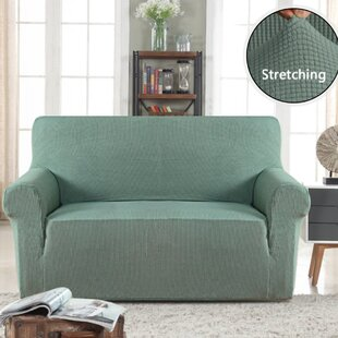 Miraculous Stretch Box Cushion Loveseat Slipcover Dailytribune Chair Design For Home Dailytribuneorg