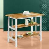 Stetler Kitchen Island Prep Table by August Grove®