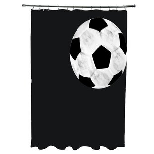 Bauer Soccer Ball Single Shower Curtain