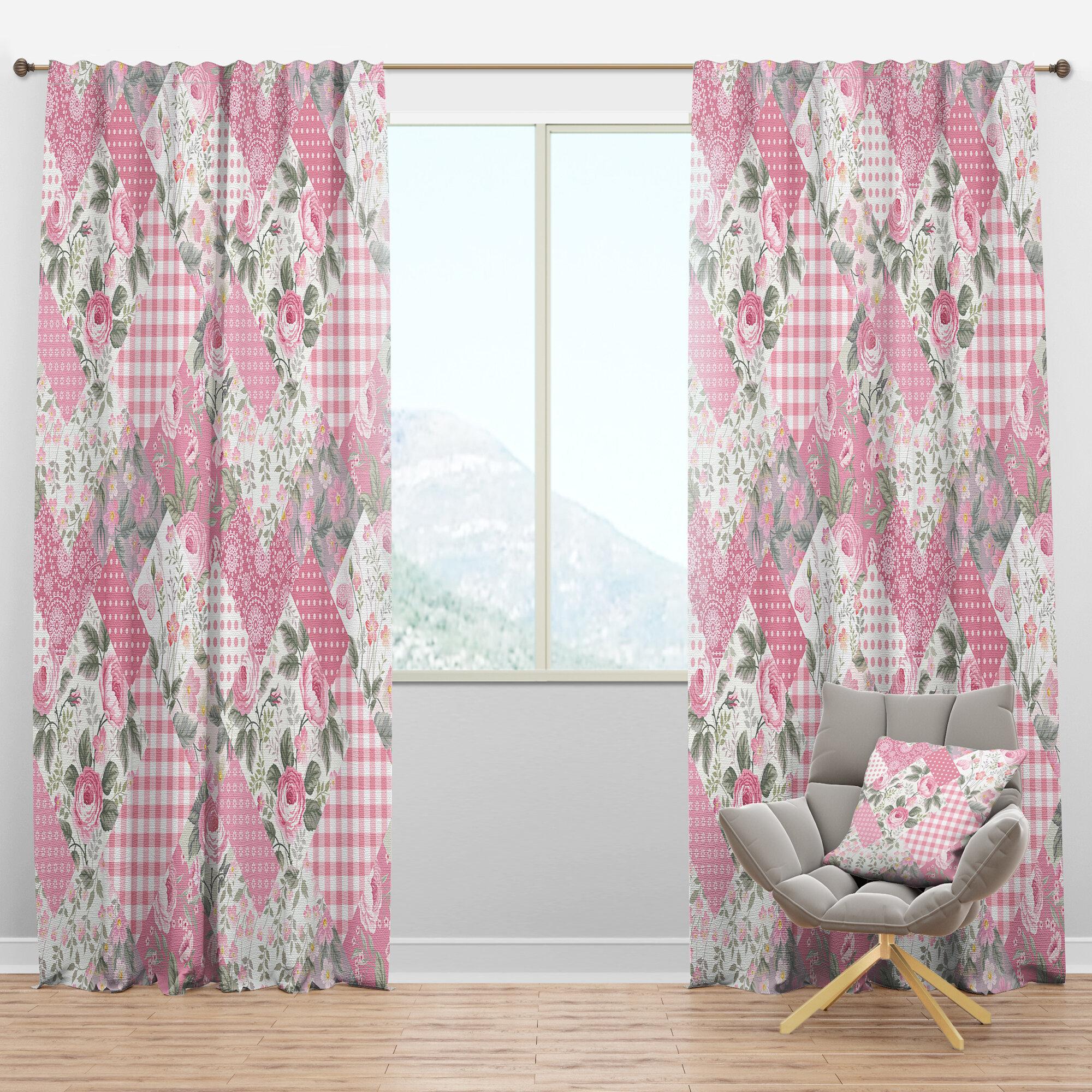 Designart Decorative Floral Semi Sheer Thermal Rod Pocket Curtain Panel Wayfair