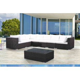 Sinead 8 Piece Rattan Sectional Seating Group with Cushions
