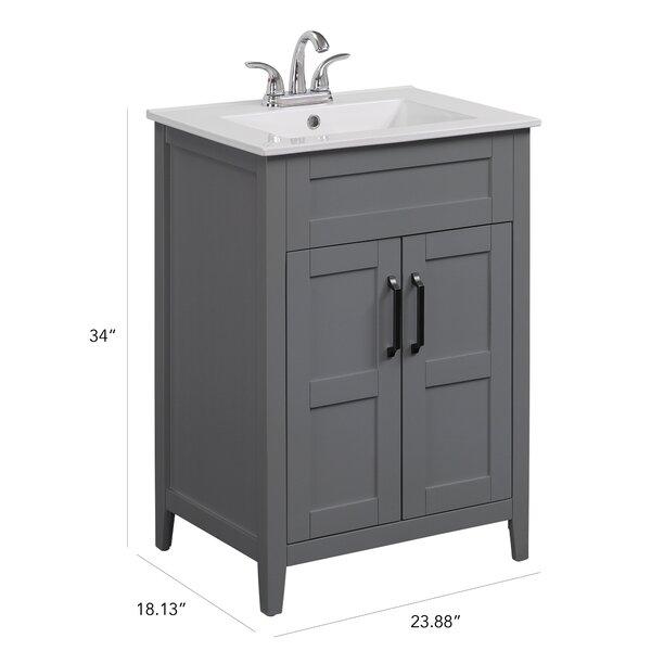 Lark Manor Ellenberger Freestanding 24 Single Bathroom Vanity Set Reviews Wayfair