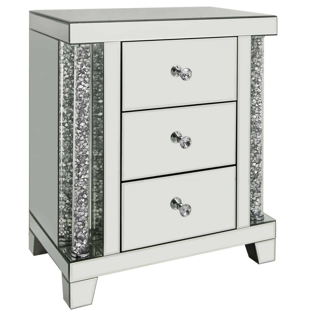 the best attitude 5a3f5 d216b Mirror 3 Drawer Bedside Table