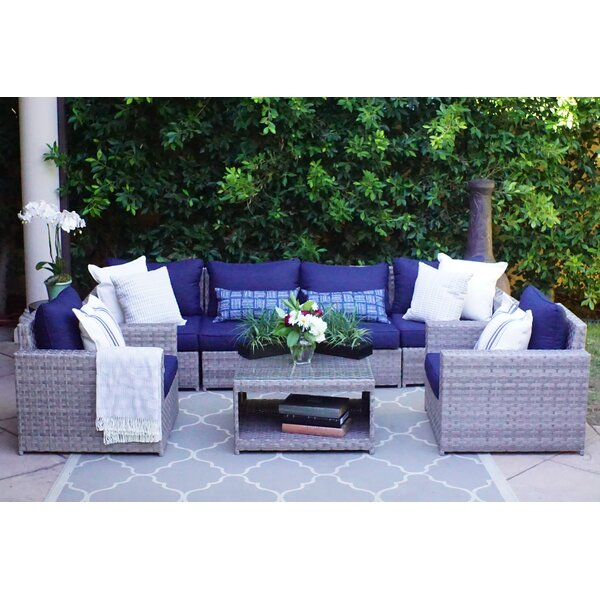 Sol 72 Outdoor Kordell 7 Piece Sectional Seating Group With Cushions Reviews Wayfair