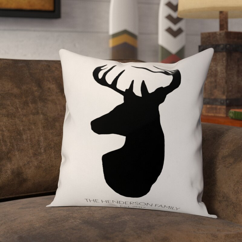 Loon Peak Mentzer Deer Head Throw Pillow Wayfair