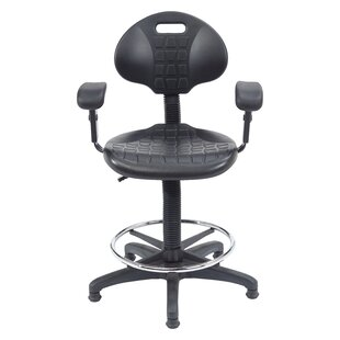 Kangaroo Height Adjustable Industrial Stool by National Public Seating