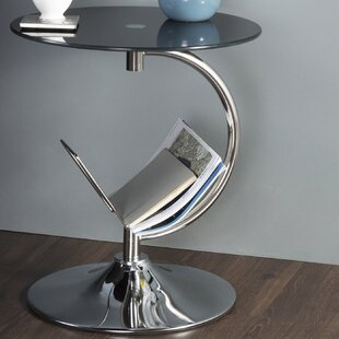 End Table with Magazine Rack By AVF
