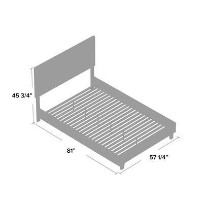Sturbridge Upholstered Platform Bed Zipcode Design? Size: Queen