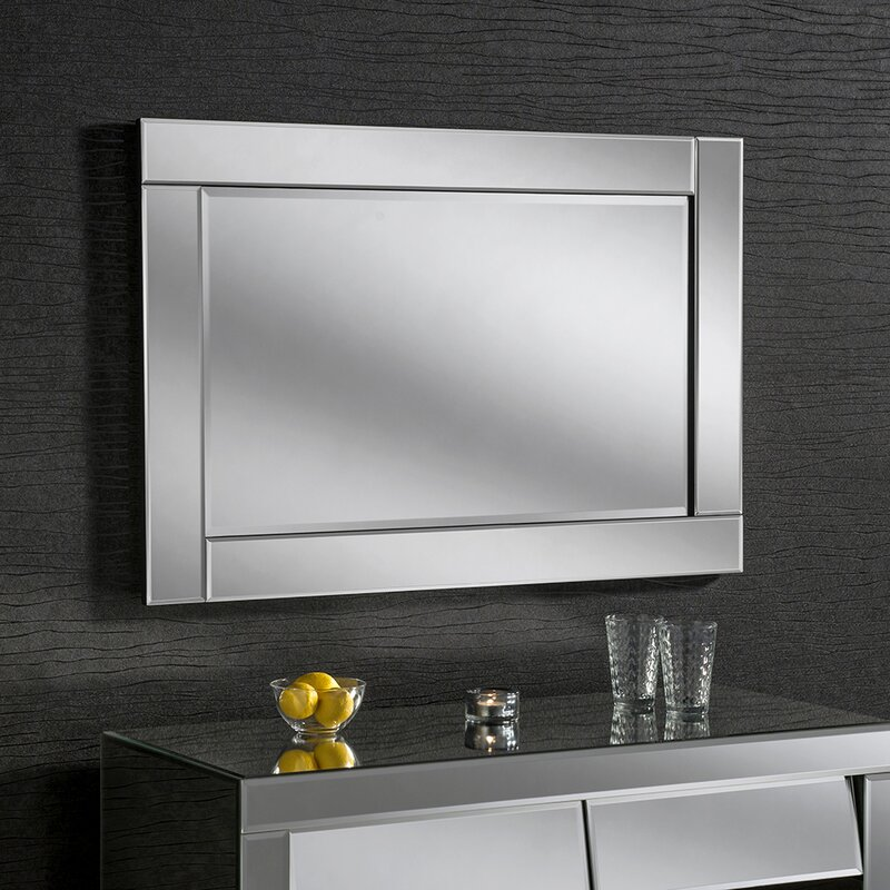 Contemporary Wall Mirror yearn mirrors beveled contemporary wall mirror & reviews | wayfair