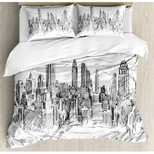 New York Cityscape Duvet Cover Set