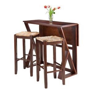 Harrington 3 Piece Counter Height Dining Set by Luxury Home