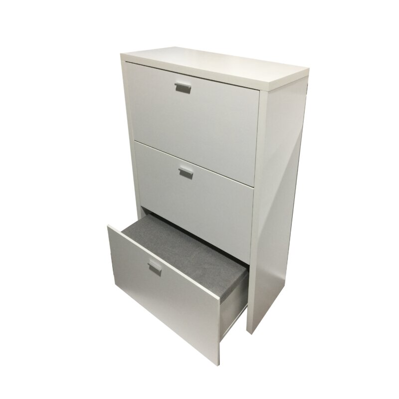 Latitude Run 12 Pair Shoe Storage Cabinet Wayfair Co Uk