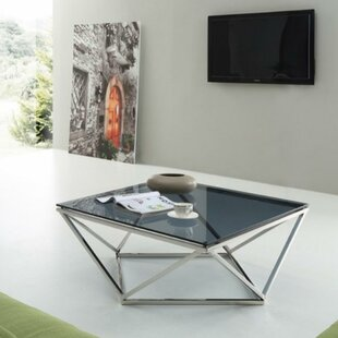 Greentop Metal and Glass Coffee Table