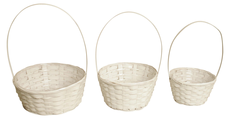 Waldimports 3 Piece Bamboo Basket Set Wayfair