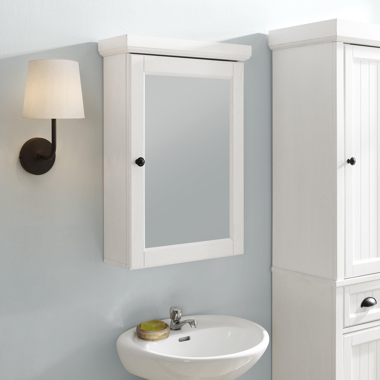 Coastal Farmhouse Carmel Surface Mount Framed 1 Door Medicine Cabinet With 3 Adjustable Shelves Reviews Wayfair