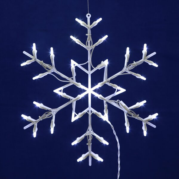 the holiday aisle led snowflake 35 light string lights reviews wayfair
