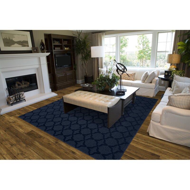 Southington Tufted Polypropylene Dark Blue Indoor Area Rug