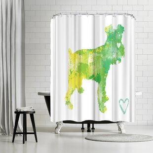 Allison Gray Miniature Schnauzer Single Shower Curtain