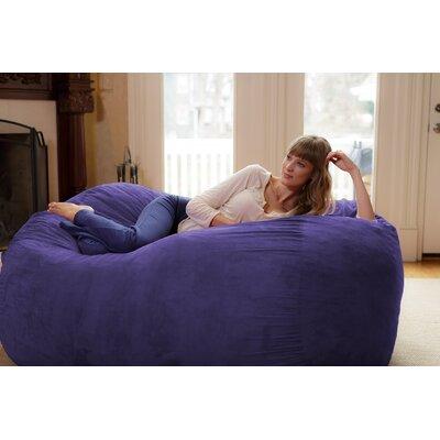 Theater Sacks Bean Bag Sofa Upholstery: Purple