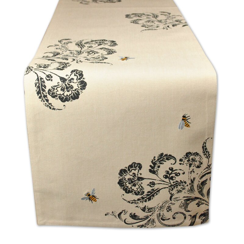 Honey Bee Busy Bee Embroidered Table Runner