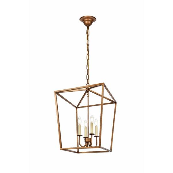 Shop Finnick 4 - Light Lantern Geometric Chandelier from Wayfair on Openhaus
