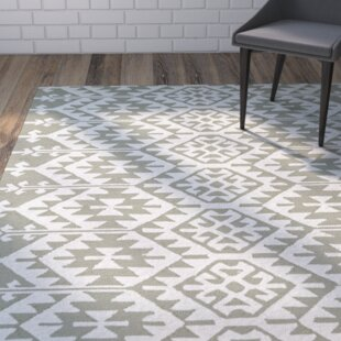 Handmade Taupe/Ivory Indoor/Outdoor Area Rug by Wrought Studio
