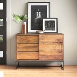 "Cumberland 40"" Wide 3 Drawer Mango Wood Server"