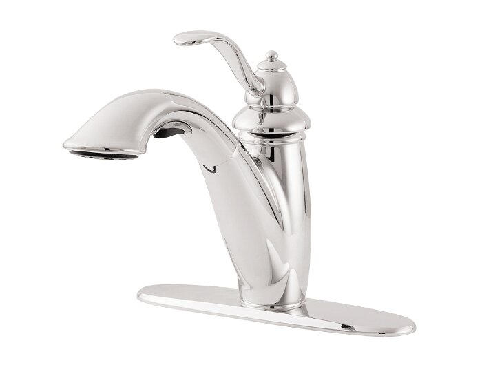 Superb Marielle Single Handle Deck Mounted Kitchen Faucet With Pull Out Spray